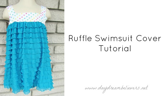 ruffle swimsuit beach cover tutorial diy free dress pattern 2