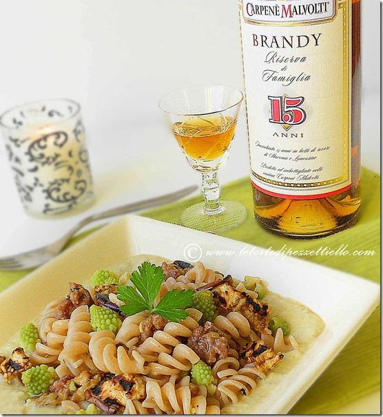 Fusilli al brandy con verdure