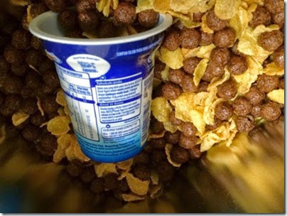 Corn flake with choco cereal