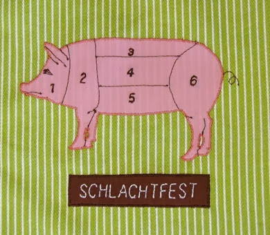 pork cuts appliqué