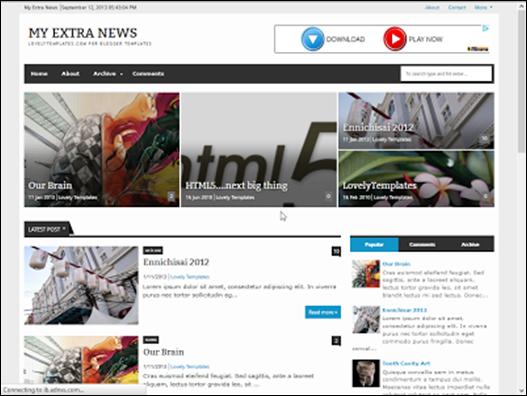 My Extra News Responsive Blogger Teması