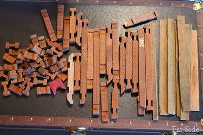 65 pieces of Vintage Halsam  American Logs $30
