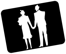 Intelligible Husband and wife silhouette