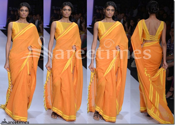 Pooja_Kapoor_Orange_Saree
