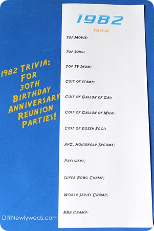 DIY Newlyweds DIY Home Decorating Ideas Projects 1982 Trivia