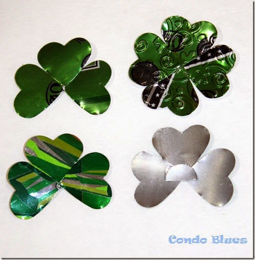 soda pop can shamrocks