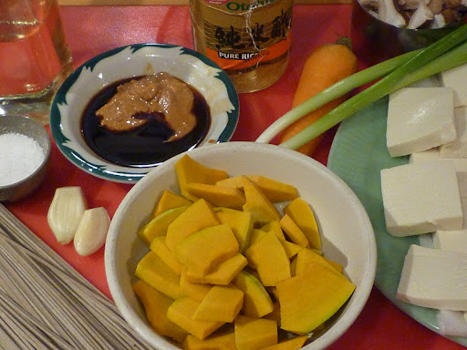 Ingredients for Soba Noodles with Tofu and Peanut Sauce