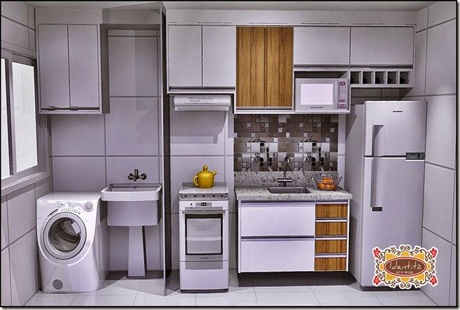 Cozinha e lavanderia alteração