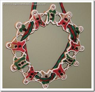 Gingerbread men Wreath Craft for Kids
