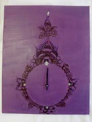 Une jolie toile-montre décorée au henné
