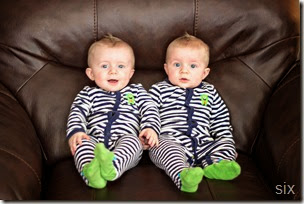 six month old twins