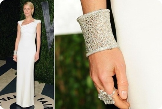 Gwyneth Paltrow Diamond Jewelry @ Oscar 2012