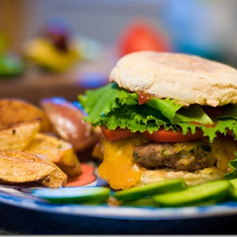 Beef and chicken cheese burgers