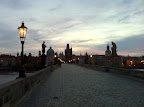Nov 1 - Charles Bridge at dawn, Prague