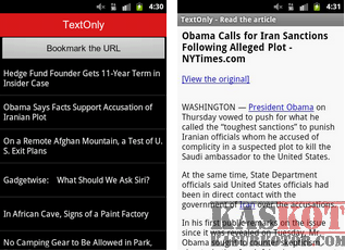 Browser yg Hanya Menampilkan Teks Saja untuk Android