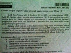 Wow, Jokowi Berkampanye di Soal Ujian Nasional