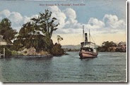 Steamer tweed river postcard