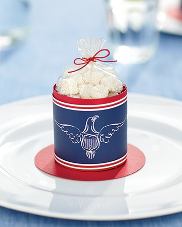 Fourth of July Candy Container