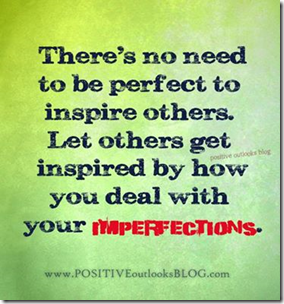 how you deal with imperfections