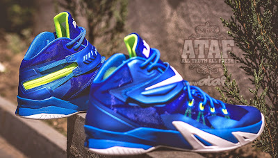 nike zoom soldier 8 gr blue white volt 2 02 Available Now: Nike Zoom LeBron Soldier VIII (8) Sprite