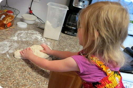 Elaine Making Pizza Dough