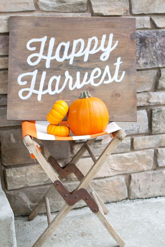 DIY Happy Harvest, Halloween Wooden Sign