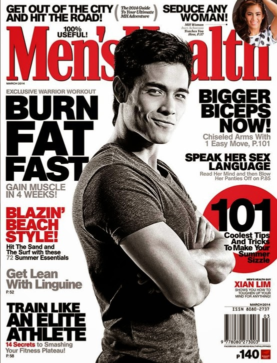 Xian Lim Men's Health magazine cover March 2014