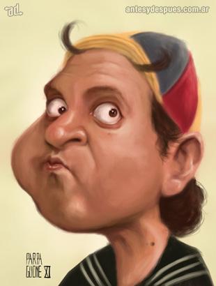 La caricatura de Quico