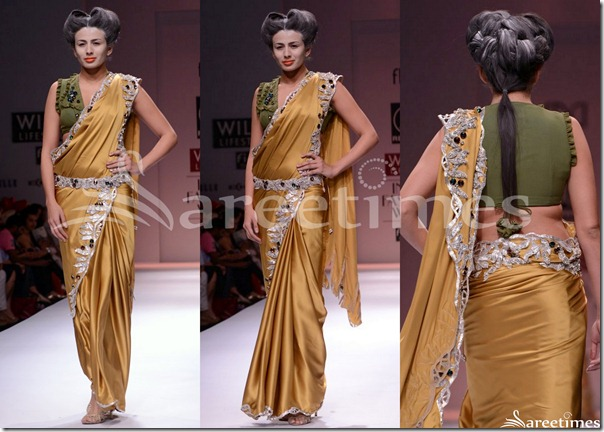 Rahane_Gold_Saree