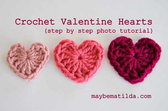 Maybe Matilda Crochet Valentine Hearts Photo Tutorial