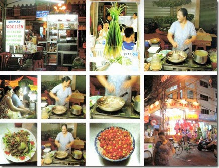 越南胡志明市新平工業區外頭的小吃店