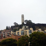 Looking up to Coit Tower