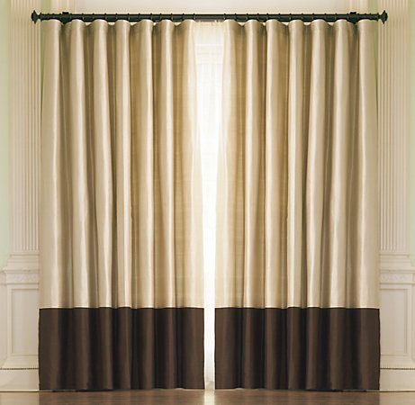 Thai Silk Coffee Banded Drapery (restorationhardware.com)