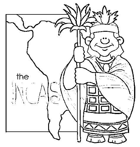 Dibujos Incas del Perú para colorear | Manualidades ...