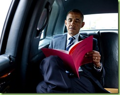 bo he man prez reading classified documents
