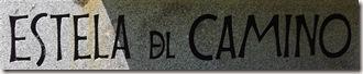 Detalle del titulo de la escultura estela del camino - Roncesvalles