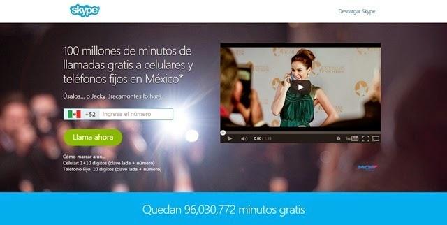 Skype regala 100 millones de minutos para llamar a cualquier fijo o móvil de México