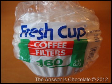 Dollar Tree Coffee FIlters