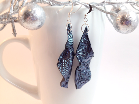 Dangling polymer clay earrings by felicianation