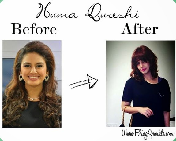 Huma Qureshi new hair cut