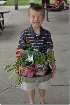Luke with Plants