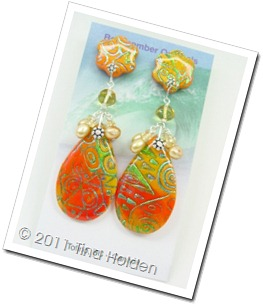 Orange Batik drops