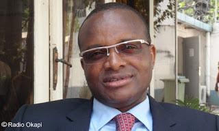 Maker Mwangu, ministre de l'Enseignement primaire, secondaire et professionnel, Kinshasa 2010.