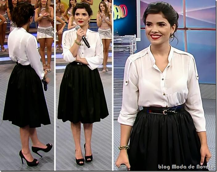 moda do domingão do faustão - vanessa giácomo dia 08 de dezembro de 2013 b