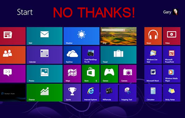 Windows 8 No Thanks