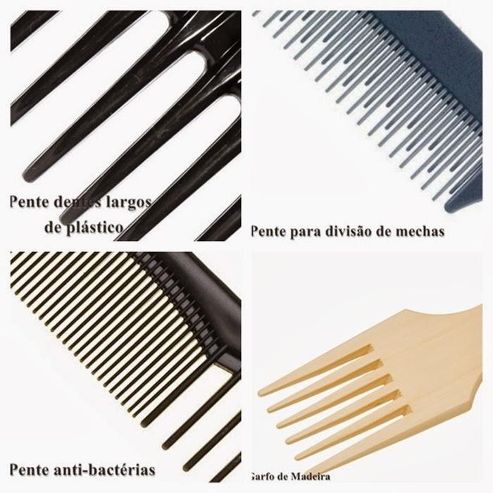 pentes e tipos de cabelos