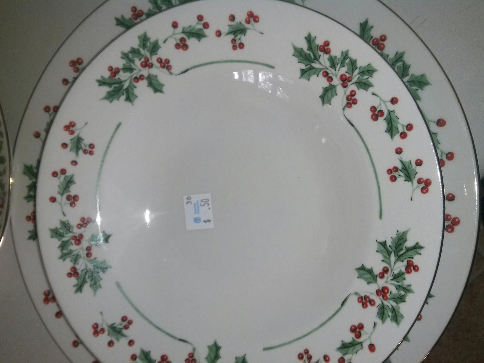 Gibson Christmas Dinnerware