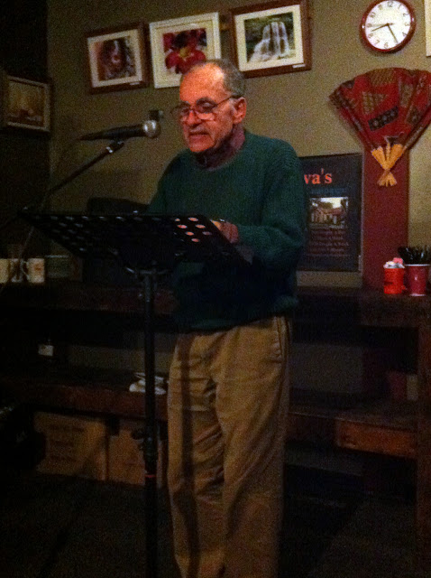 Joe Krausman at the last Professor Java's Wide Open Mic