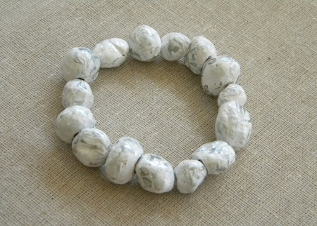Faux stone bracelet #DIY #Jewelry #tutorial from Carolyn's Homework @savedbyloves