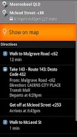Screenshot of Sunbus Tracker Cairns